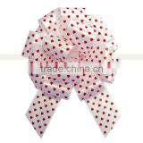 Printed with red dots printed ribbon pull bow,Outdoor Decorative Giant Ribbon Pull Bow Butterfly Pull Bow