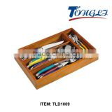 TLD1009 Royal Flatware in Wooden Box Laguiole 24PCS Dinner Cutlery Set