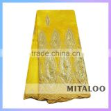 Mitaloo MGP0039 Nigerian French Lace Styles Of African George Fabric Embroidered George Silk Lace