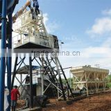 HZS50 high efficient ready mixed mini mix concrete batching plant