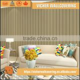 Professional Manufacturer Eco-Friendly Classic Stripe Style Style Latest Design Interior Specialized Wallpaper
