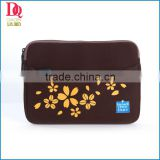 2014 New Practical Coffee Laptop Bag with Flower Priting , Good Quality and Wholesale Price