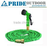 New Design Outdoor Clear Expandable Brass Nozzle Flexible Fabric Flat Garden Hose