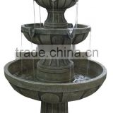 New Products Garden Outdoor 3 Tier Fiberglass Stone Water Fountain