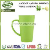 Hot Selling Vacuum Flask Cup With 100% Natural Bamboo,bamboo fibre cup,cup with coaster attached