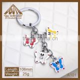Fashion butterfly metal keychain