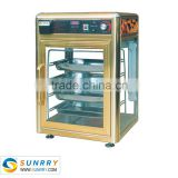 Humidity type food warmer for sale with 4 layers hot display showcase for pizza (SUNRRY SY-WD4)