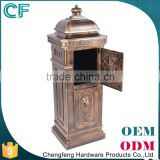 The Most Popular Style In Europe Traditional Desigh Crown Decorative External Post Box From China