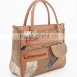 Leather shoulder bag/Leather cosmetic bag/Leather bag manufacturer
