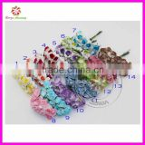 1.5-2cm head Multicolor two-tone Mulberry Paper Flower Bouquet Scrapbooking artificial rose flowers(120pcs)