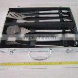 6 pcs hollow handle BBQ tools set with aluminum case