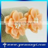 Wholesale coloful folwer ear stud earrings E0853                                                                                                         Supplier's Choice