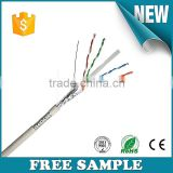 Professional Manufacturers Lan cable 23awg Bare copper sftp cat 6 cable network sftp cat6 price