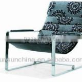 Hot sell 2013 new style top grade gold quality sx-048 leisure chair Living Room Chairs chromed steel base(smple)