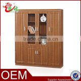 factory outlets china supplier living room furniture 2 glass door bookcase for home office