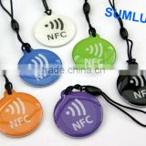 Crystal NFC Tag Gift Set for ALL NFC enabled Mobile Phones Epoxy Keyfobs offer LOGO printing