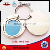 Round slide type hold double/ two photo frame keychain holder