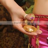 Golden Belly Dance Finger Cymbals