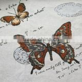 jacquard cushion polycotton cushion for home &hotel decoration &promotion&gift brown butterfly new design-3