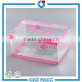 2016 customized transparent plastic PVC cosmetic packaging box                                                                                                         Supplier's Choice