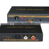 High Quality HDMI and Optical SPDIF+RCA L/R Audio Extractor HDMI Audio Splitter Adapter