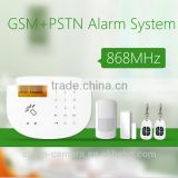Elegant design APP style wired security alarm for GSM Wireless alarm system Via RF socket to control home appliances