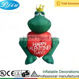 DK-893 christmas inflatable green Frog love happy Valentine's Day ornament decor