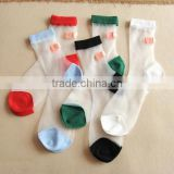 See through socks,Silk Socks, Women Socks,Summer, Spring Socks,Cartoon Expression Socks, bandage Socks