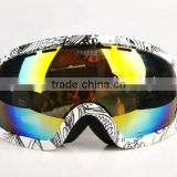 Proffessional Anti-fog,UV Protective Unisex Snow Goggles Doule Lens Wide Angle