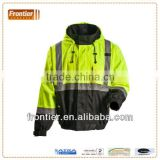 winter jacket, safety jacket with reflective tape, comply with ANSI 107 Class 3