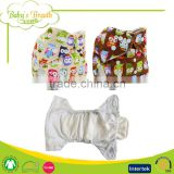 MPL-01 eco organic minky fabric baby reusable washable cloth pocket diaper nappy with insert