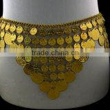 Gold plated Coin Body Chain Indian Waist Chain