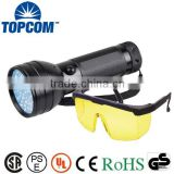Safety Goggles 390nm 51 LED Purple Light UV Flashlight