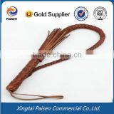 brown/black horse riding leather whip/ lash leather whip for farm