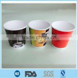 EUR version 8oz 250ml logo printed offset and watermark printing nescafe disposable cone recycled double wall coffee paper cup