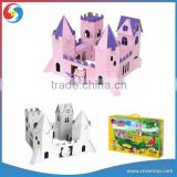 castle toy 3D puzzle paint for children nontoxic ECO paper Material include watercolor brush
