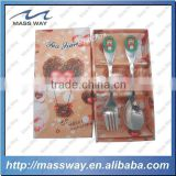 cartoon stainless steel baby spoon and fork