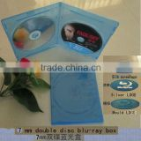7mm bluray double dvd case with Print Blu-ray logo