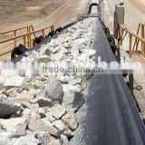 conveyor belt for continuous ship unloaders and shiploading of bulk materials