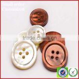 Wholesale measures trocas 4 holes white shell buttons for clothing