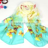 Hot Sale new fashion spring summer women's scarves chiffon scarf cat print animal pashmina shawl wholesale