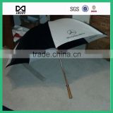 "30"" wooden shaft stick leading factory cheap golf gifts umbrella"