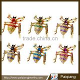 Fancy design personalized style animal rhinestone spider brooch