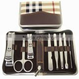 New high quality Deluxe edition 8 in1 Nail Art Clipper Pedicure Manicure Tweezer Cutter Earpick Tool Set Kit