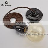 High Quality E27 Colour Ceramic Ceiling Rose Lamp Holder,Pendant lamp cord set                                                                         Quality Choice