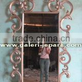 Wall Mirror Furniture - Gold Full Carving Wooden - Wood Carved Decorative Mirrors Frame - Gold Furniture - Luxury Furniture