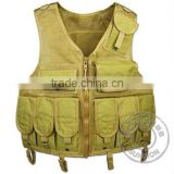 Mesh Tactical Vest with UTX buckle, heavy duty Velcro and webbing