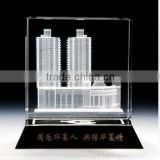 Selling well all over the world 3d engraved crystal office set