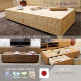 Durable and Simple living room furniture modern center table with various kind of wood made in Japan
