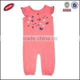 wholesale baby girls short sleeve adult baby romper with button and printed on the chest from china suppliers